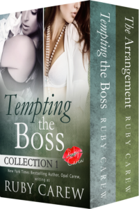 Tempting the Boss, Collection 1 by Ruby Carew (aka Opal Carew). Includes the first two stories of the series.